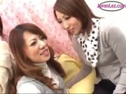 Asian Lesbians Make Out on Couch