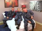 Sexy Navy Petty Officer fucks her Sailors