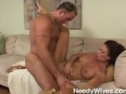 Horny housewife gets nailed