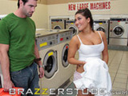 London Keys takes a load at laundromat