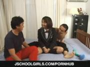 Yuma Nakata fucked by two males