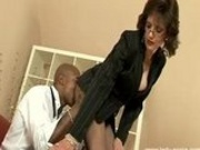 Lady Sonia Blows Black Dude & Makes Him Cum