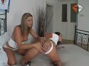 -Monica Sweetheat-Foxy girls bash the beaver