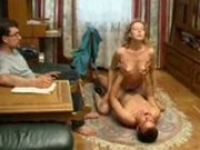 Russian Husband Watches His Friend Fuck His Wife, Then Joins In