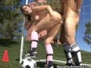 Hot Latina Gets A Hard Cock During Soccer Practice