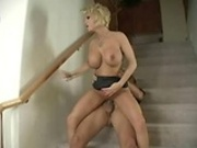 Diamond Foxxx hot sex on stairway!