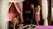 Naked guy humiliated by cfnm girls