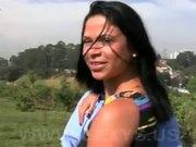 Horny brazilian babe