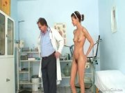 Angela have pussy speculum examined by doctor