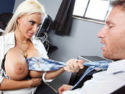 Busty mature Dean Holly Halston fucks Congressman for a new Gym