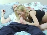 MILF giving a blowjob and getting fucked