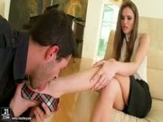 Tori Black Gets Her Feet Sucked And Fucked