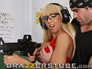 Jessica Lynn can handle any gun!