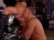 MILF gets Fucked in the Repair Shop
