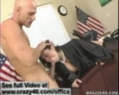Sienna West tackles on a hard dick in her office