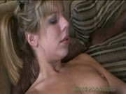 Chastity Lynne gobbles on a black beast