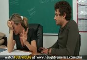Sexy teacher Brandi Love fucks and sucks her student's dick