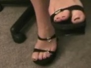 Girl shows her feet