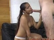 Indian Girl Sucking On A Long Schlong