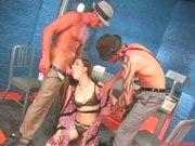 Teenage Celebrity Sasha Grey Stuffed by TWO hard Cocks!