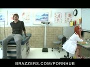 BUSTY REDHEAD DOCTOR IN STOCKINGS FUCKS BIG DICK PATIENT N OFFICE