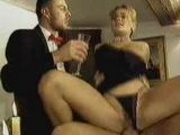 Socialite in hardcore threesome