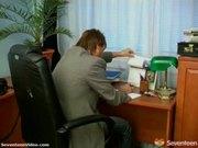 Cute teen girl fucks her boss in his office