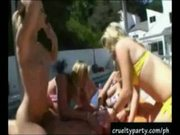 Poolside bacholette mayhem