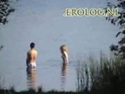 Voyeur spy cam caught couple in the lake