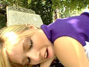 Tight blonde Mary gets hammered outdoor