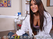 Doctor Jolie nailed in her office