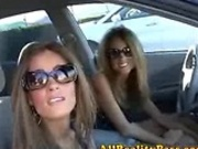 Love twins sucks and swallows cum of Mr Big Dicks!
