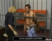 Prison guard jerks off guy for sperm sample