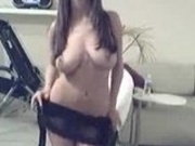 Gorgeous slut stripteasing