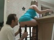 Nicoline pays her bills while loser licks her ass