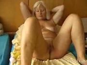 Granny having fun with toys