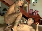Tattooed Whore fucks without condom