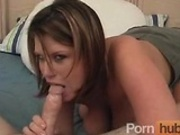 Large chick with big boobs sucks, fucks, and swallows 