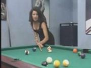 Pool playing turns into pool fucking