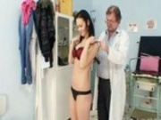 Brunette Pavlina Vagina Exam By Old Doctor At Kinky Gyno Clinic
