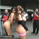 Mariah and Whitney walk around flashing their asses