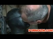 Pet Slave Bizarre BDSM Perverts Training Torture Cane and Outdoor