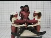 Ebony Nurses Take Care Of White Man