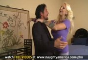 Husband cheats on wife by fucking a busty blonde