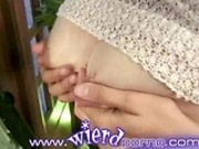 Pregnant lesbians squirt milk on each other