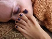Ebony and White Girls Do Stinky Foot Stuff To Their Sleeping Friend
