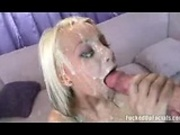HUGE load of cum, she got pasted
