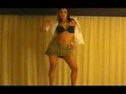 Amateur latina dancing striptease