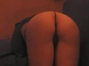 Nice ass showing her thong