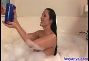 Busty Anya Gets Cum Facial in Bathtub